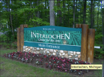 Interlochen Center for the Arts Main Entrance Sign